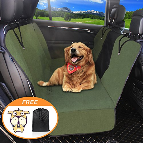 Dog Seat Cover Car Seat Covers for Pets With Storage bag- Nonslip Backing, 600D Waterproofand Hammock Style Easy to Clean and Install for Cars, Trucks and Suv's