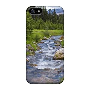 Cute High Quality Iphone 5/5s River Flowing In Between The Forest Case