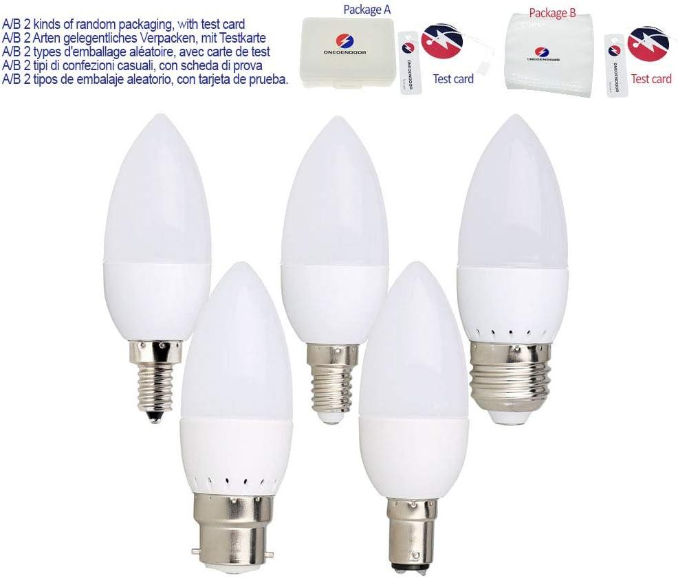 LED Candle Bulbs E14 E27 B22 B15 3W//5W//7W SES ES BC SBC Energy Saver Lights