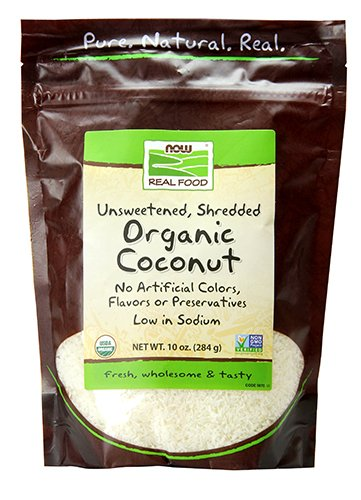 (NOW Foods, Organic Coconut, Unsweetened and Shredded, No Added Colors, Flavors or Preservatives, 10-Ounce )