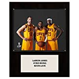 C and I Collectables NBA 15W x 12H in. LeBron James-Irving-Love Cleveland Cavaliers Player Plaque