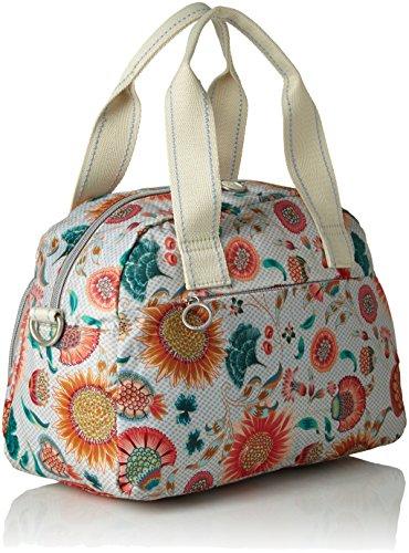 Oilily Damen Ruffles Sunflower Handbag Mhz 1 Henkeltasche, Weiß (Offwhite), 15x22x32 cm
