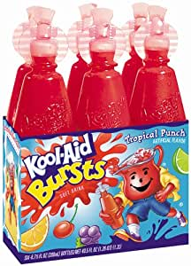 Kool-Aid Bursts Tropical Punch 6 ct - 8 Pack