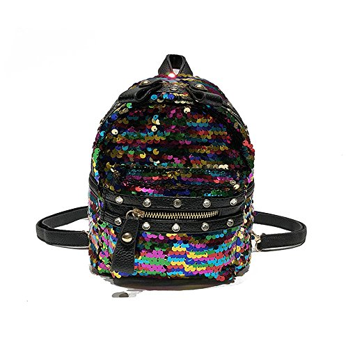 Sac Sac Sac À À À Meaeo Couleur Color Dos Usage Mode Paillettes Sac Dos Main Double À À Sac zpdnSw