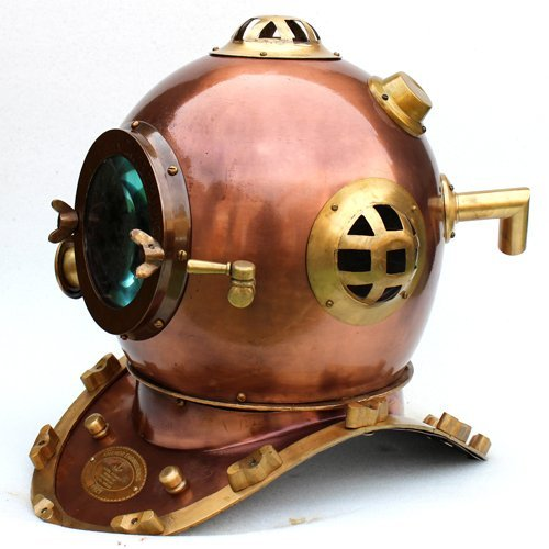 - Scuba Diving Nautical Helmet | Maritime Ship's Decorative Helmet | Nagina International (18 Inches, Retro Cop)