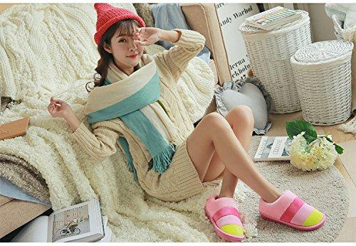 Minetom D'Int Pantoufles Confortable Automne Femmes Hiver Coton Chaudes Hommes Chaussures RwqxRfraO