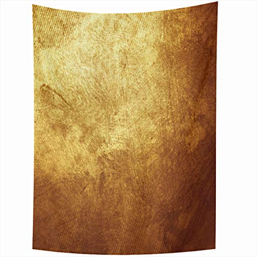 Ahawoso Tapestry 50x60 Inches Gray Bronze Gold Yellow Golden Dark Copper Old Rough Weathered Plate Wall Hanging Home Decor Tapestries for Living Room Bedroom Dorm
