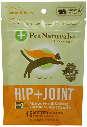 Pet Naturals of Vermont 6-Pack Hip Plus Joint Chews for Cats Plus Free Calming Chews