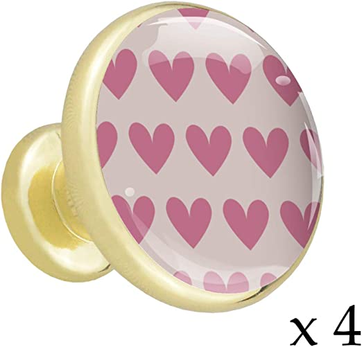 Round Dark Pink Cupboard Door KnobDrawer Pull