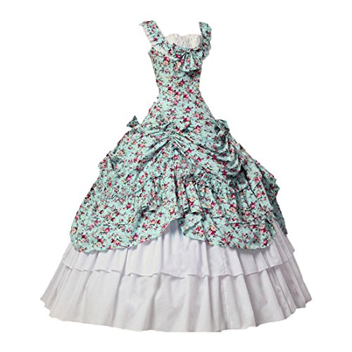 Partiss Womens Vintage Victorian Party Dress Theater Ball Gown,XL,As picture