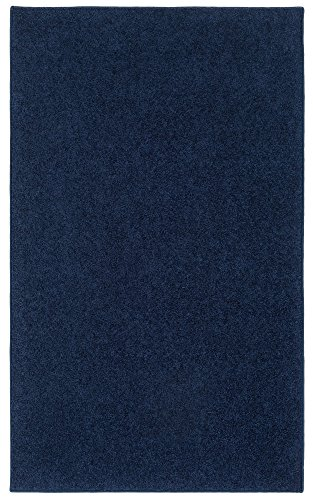 Nance Industries XH-9FI1-PO3P Ourspace Bright Area Rug, 8' x 10', Midnight Navy Blue