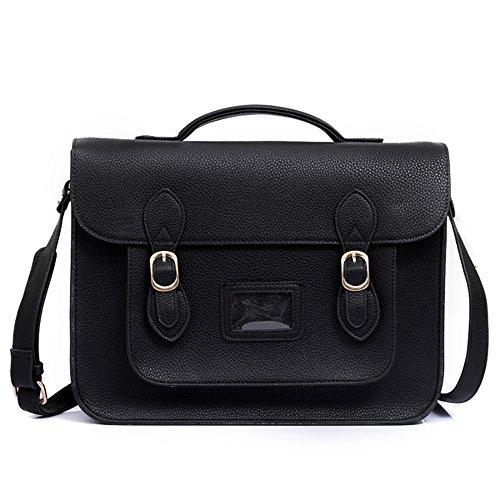 Yasmin Bags - Bolso estilo cartera para mujer - Black Y12345