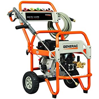 Generac 6416 3,500 PSI 3.6 GPM 302cc OHV Gas Powered Commercial Pressure Washer (Discontinued by Manufacturer)