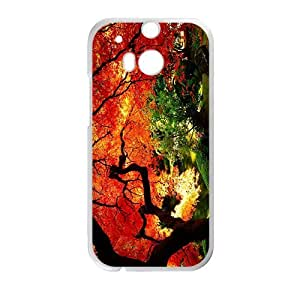 Charming Orange Red Tree High Quality Custom Protective Phone Case Cove For HTC M8 by lolosakes