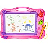 Aerfas Color Magnetic Drawing Board Screen Erasable,painting, graffiti,Sketch, writing Children Toy (Pink)