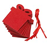 Christmas Tree Decorations, Jchen(TM) Merry Christmas 10 PCS Red Pendant Christmas Decoration Children's Home Decoration Gift (A)