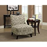 Monarch Specialties Swirl Fabric Accent Chair (I 8047), Tan