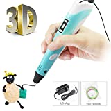 3D Pen for Doodling, Art, Craft Making, 3Dimage P2 Professional Printing 3D Pen Modeling and Education ABS/PLA Create 3D Art No Mess, Non-Toxic, Smoky Blue
