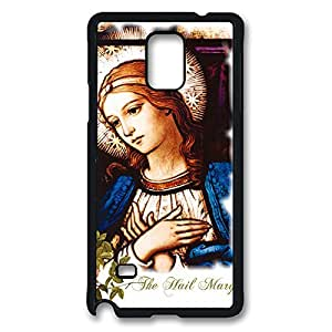 Loving Virgin Mary Christian and Cute Child Baby Jesus Case for Samsung Galaxy Note 4 Back Protector -Black20321