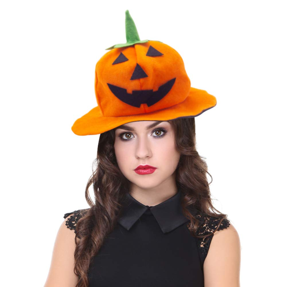 DomeStar Halloween Pumpkin Hat Jack-O-Lantern Hat by DomeStar