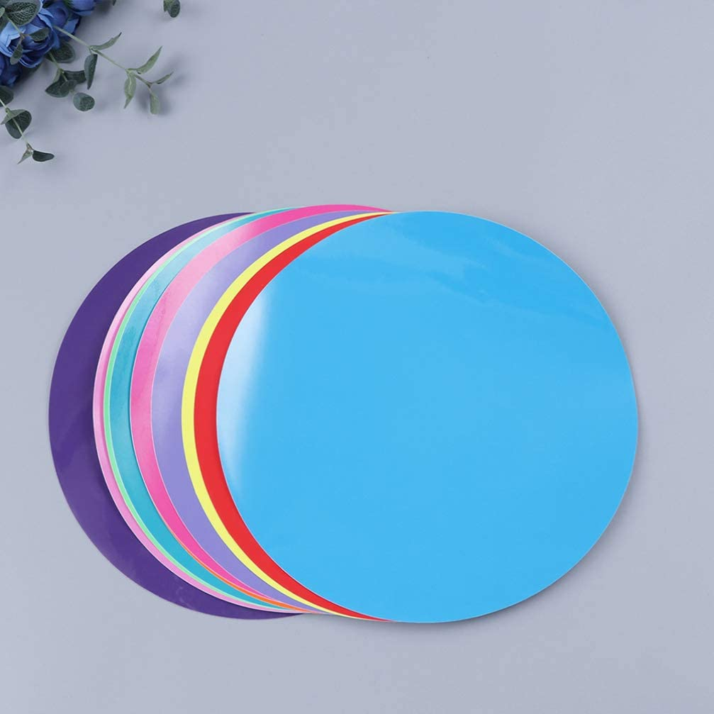 STOBOK 10Pcs Cerchi Colorati Cancellabili a Secco Pennarello per Lavagna Bianca Rimovibile Punti in Vinile Adesivo da Parete per Scuola di Formazione Giochi Aneto