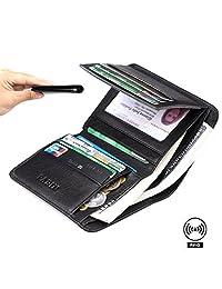 Pabin RFID Blocking Wallet for Men Bifold Genuine Leather Credit Card Holder Slim