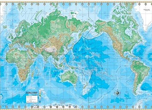 world map physical - 7