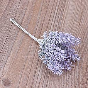 lipiny Artificial Flowers Lavender Bouquet in Purple Artificial Plant for Home Decor, Wedding,Garden,Patio Decoration,5 Pcs Per Bundle 5