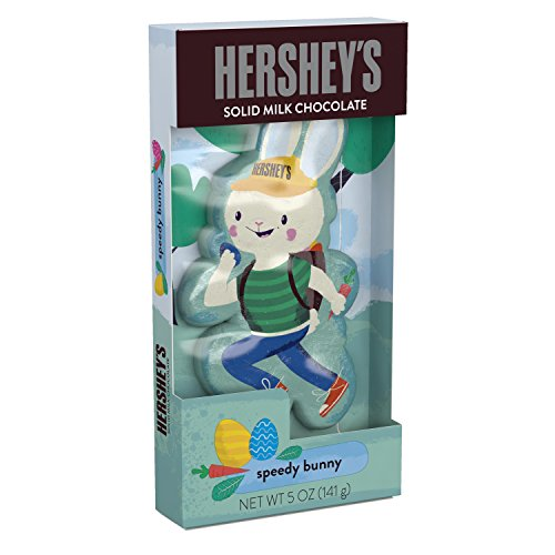 HERSHEY'S Bunny Shaped Chocolate, Solid Milk Chocolate Candy