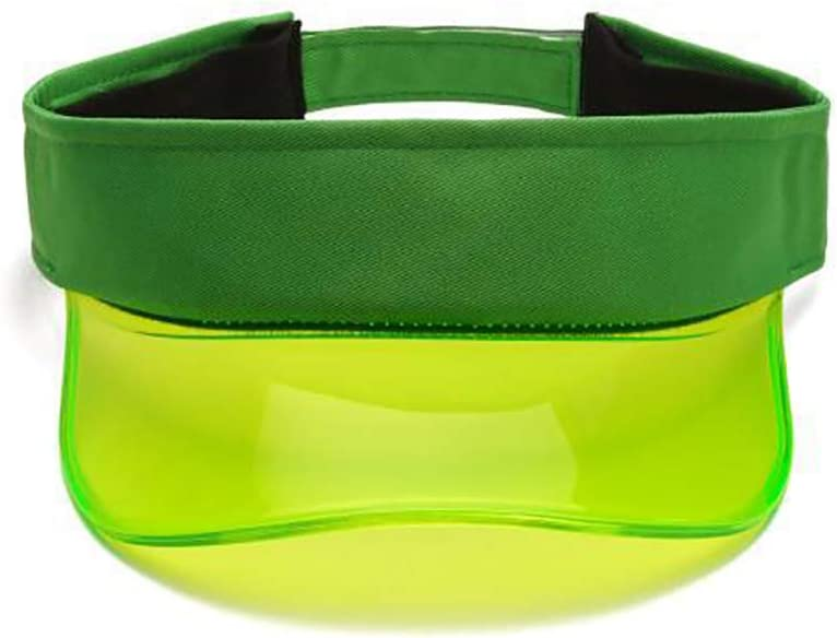 UGUAX Plastic Transparent Sun Visor Hats PVC Sunshade Hat Candy Color for Women Outdoor Travel