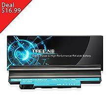 Tree.NB High Performance Battery Replacement for Acer Aspire One D255 D257 D260 D270 E100 360 522 722 Al10a31 Al10b31 Al10bw Al10g31 AOD255 AOD257 AOD260 Notebook Battery ( 11.1v 5200mah 6-cells )