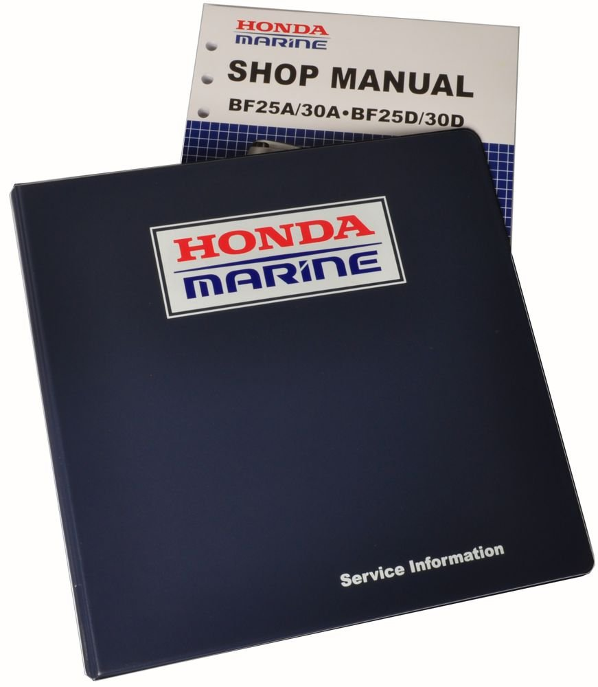 Amazon.com : Honda BF25 BF30 Marine Outboard Service Repair Shop Manual :  Lawn And Garden Tool Replacement Parts : Sports & Outdoors
