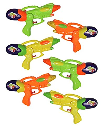 New Super Soaker Water Guns Squirt Guns Blaster Toy 6 Pack Bundle - Assorted Colors