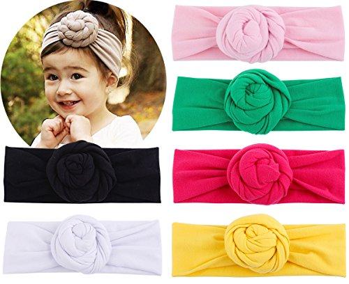Head Wrap Elastic Headbands Turban Knot Hairband Headwear Set Of 6 (set of 6) (Cotton Infant Baby Wrap)