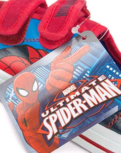 Spiderman - Zapatillas para niño rojo Rote