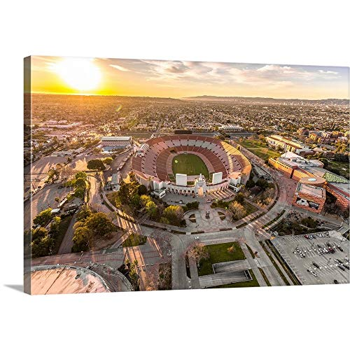 GREATBIGCANVAS Gallery-Wrapped Canvas Entitled Aerial View of Los Angeles Memorial Coliseum, California by Copterpilot Photography 18
