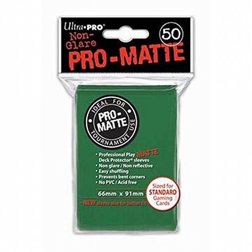 Deck Protector Sleeves: PRO-Matte 50 Green Ultra Pro 12885 UP82652