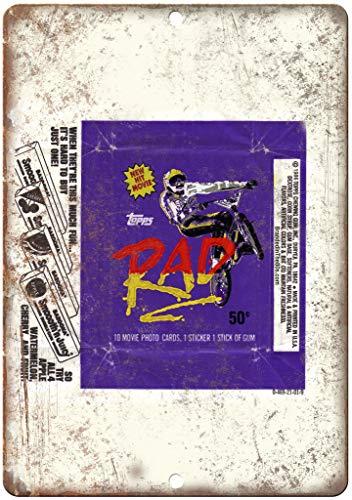 RAD BMX Movie Card Gum Wrapper Ad 12