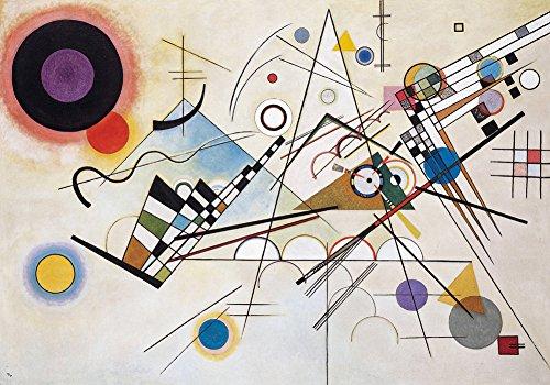 Wassily Kandinsky - Composition VIII, Size 24x36 inch, Poster art print wall décor