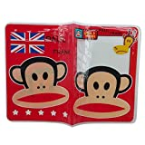 Winhappyhome Plastic Passport Cover ID Card Holder Case for Travel Abroad (Monkey)