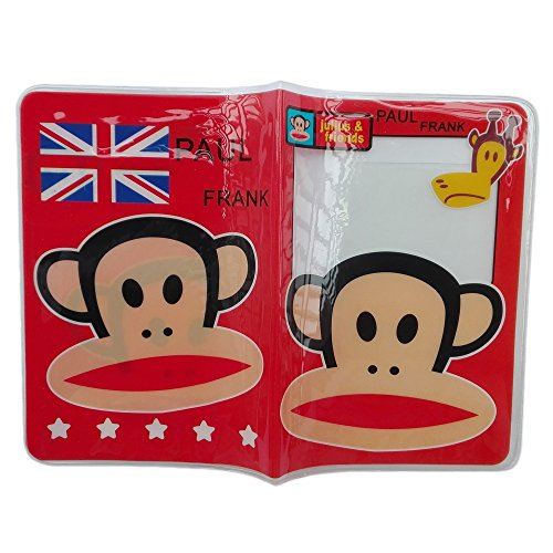Holder Card Monkey (Winhappyhome Plastic Passport Cover ID Card Holder Case for Travel Abroad (Monkey))