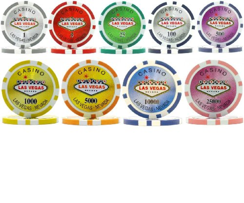 Welcome to Vegas 15gm Laser Clay 1000 Bulk Poker Chips - Choose