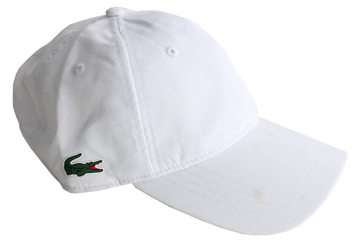 eff4ae9b Lacoste Mens Baseball Cap - White at Amazon Men's Clothing store: