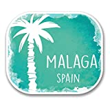 2 x 30cm- 300mm Malaga Spain Vinyl SELF ADHESIVE STICKER Decal Laptop Travel Luggage Car iPad Sign Fun #6338
