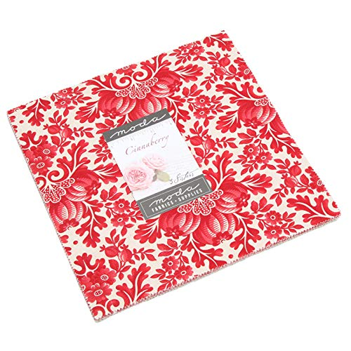 Cinnaberry Layer Cake, 42-10 inch Precut Fabric Quilt Squares by 3 Sisters 3 Sisters Quilt Fabric