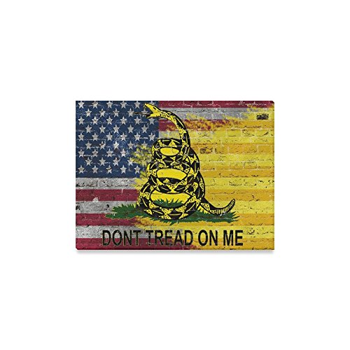 Dont Tread on Me Oil Painting Canvas Print Modern Wall Art for Home Decoration 16x20inch