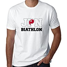 Hollywood Thread Japanese Biathlon - Winter Olympic - JPN Flag Men's T-Shirt