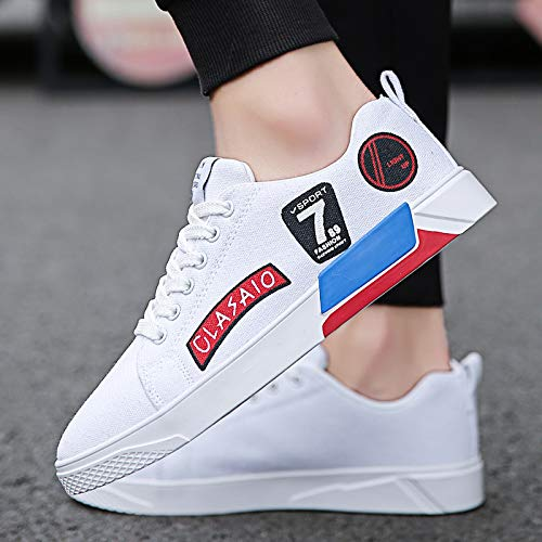 Leisure Shoes Winter Shoes Breathable Student Shoes Canvas and Men White NANXIEHO Small Autumn White Trend Shoes Sneakers Men's nPxE1