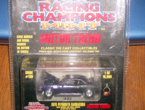 Racing Champions MINT Motor Trend Magazine 1970 Plymouth Barracuda Purple 1:64 Scale Diecast from Racing Champions