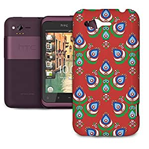 Phone Case For HTC Rhyme - Festive Peacock Scandinavia Hard Cover by lolosakes